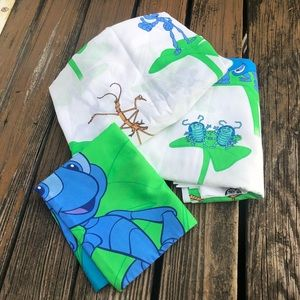 Vtg Disney A Bugs Life Twin Flat Fitted Sheet Set